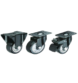 Mid-duty Black PU Caster Wheel