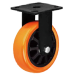 Heavy Duty Orange PU Caster Wheel