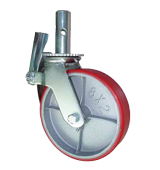 PU & Iron Body Scaffolding Caster Wheel