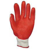 Red PVC Coated Glove