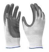 Rubber Coate Glove Nylon Basis